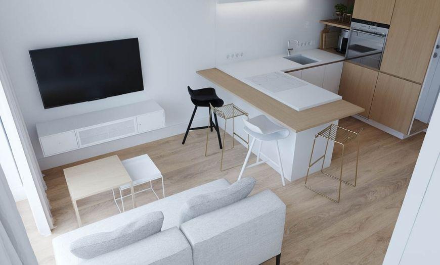Квартира-студия минимализм