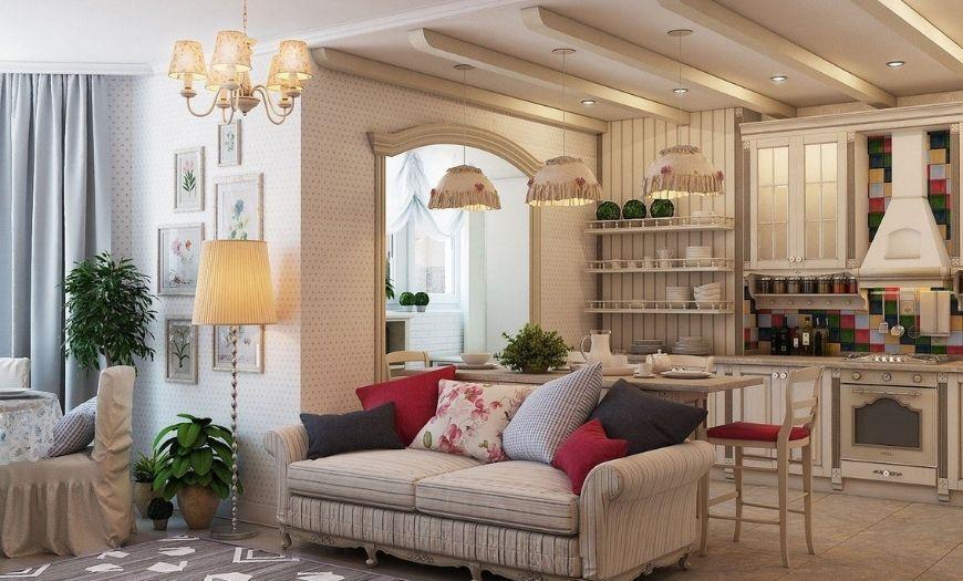 Квартира-студия в стиле прованс