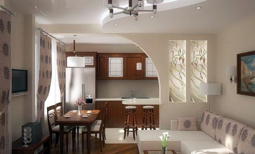 Ассиметричная арка на кухню.