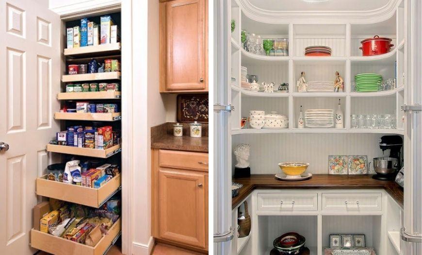 Небольшие отдельные помещения под технику и посуду.
