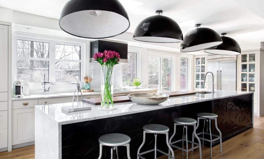 Освещение на кухне.