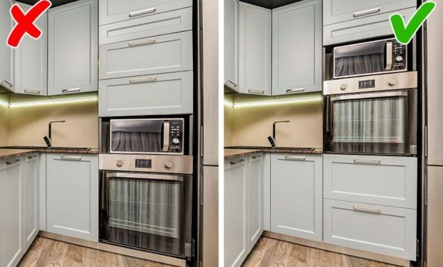 Ошибки при расположении кухонной гарнитуры