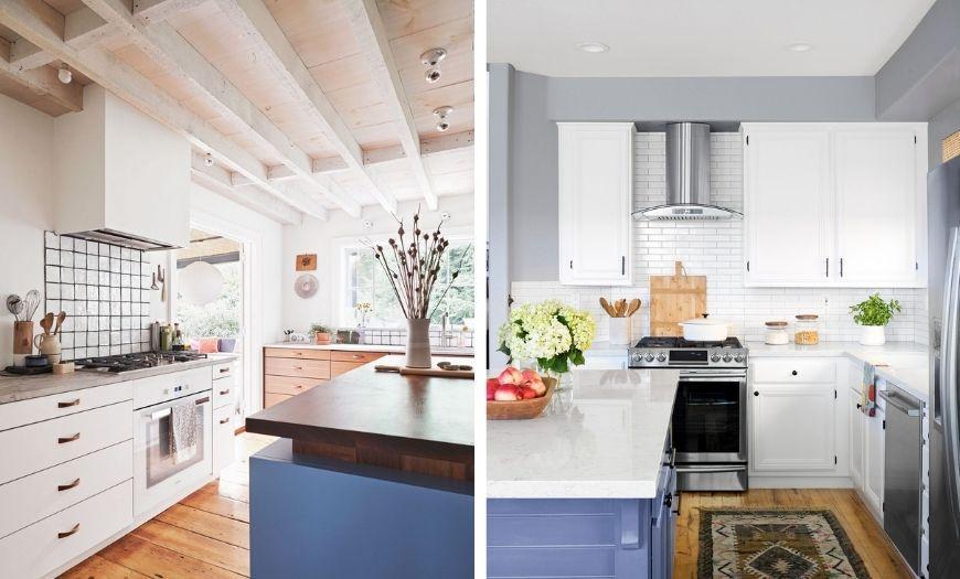 Кухня в белых тонах.