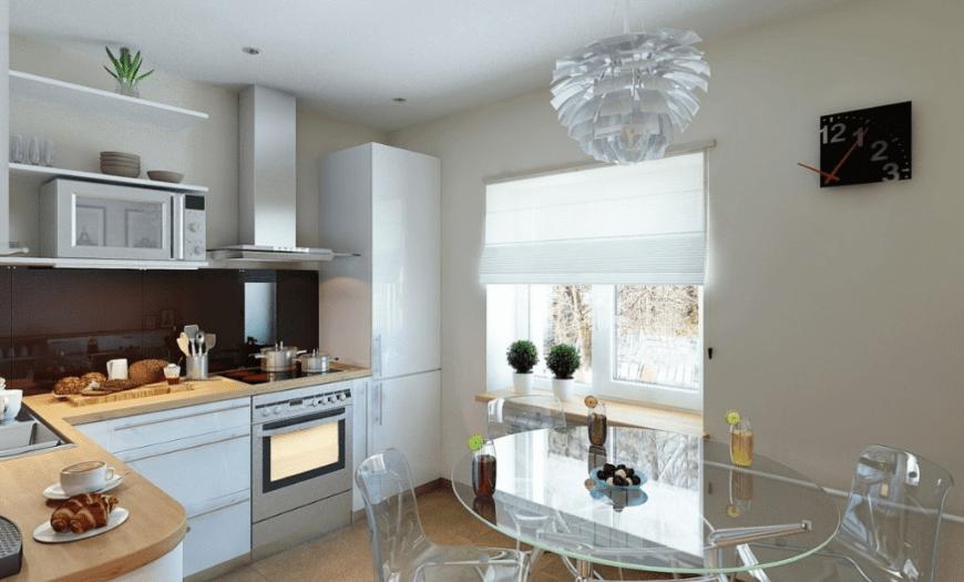 прозрачная мебель для кухни