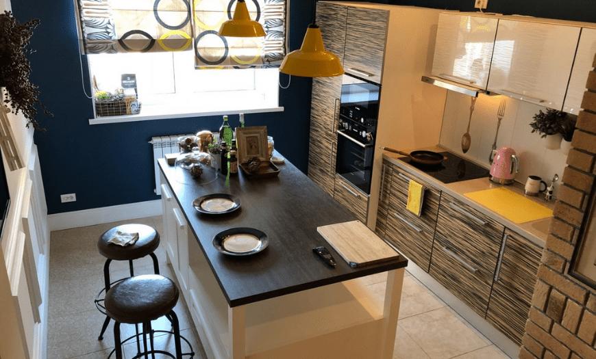 кухня 9 м кв с островом
