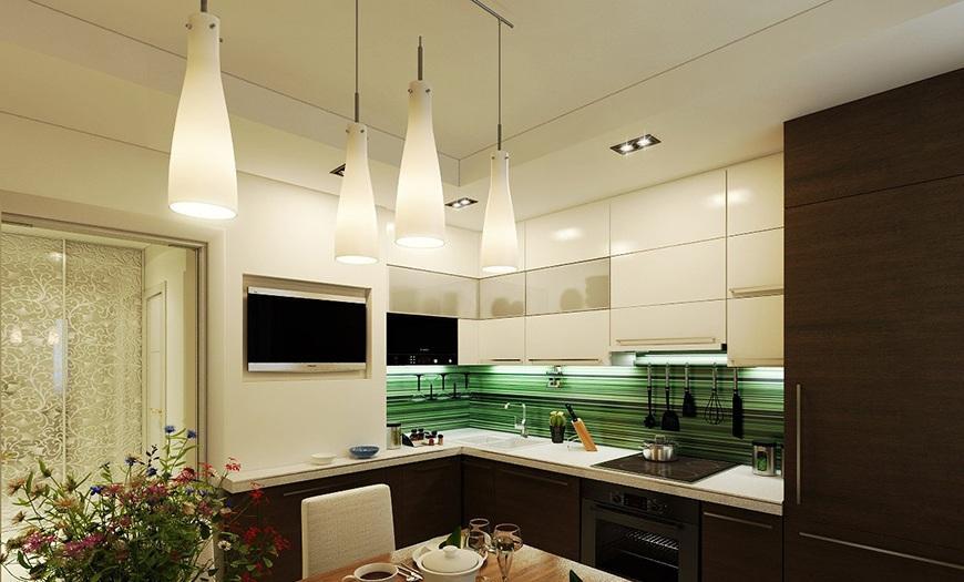 освещение кухни 9 м кв