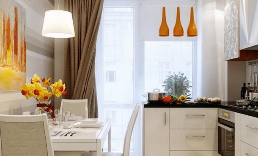 дизайн кухни 9 м2 с балконом