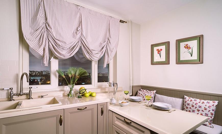 шторы в кухню 9м кв