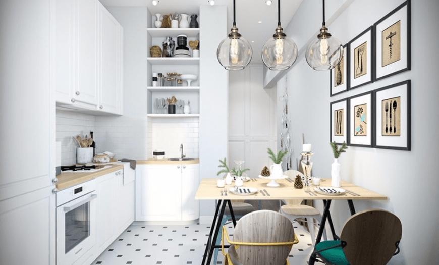 красивые кухни 9 кв м