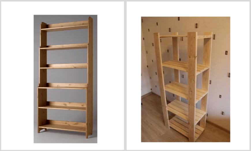 икеа стеллажи для хранения деревянные