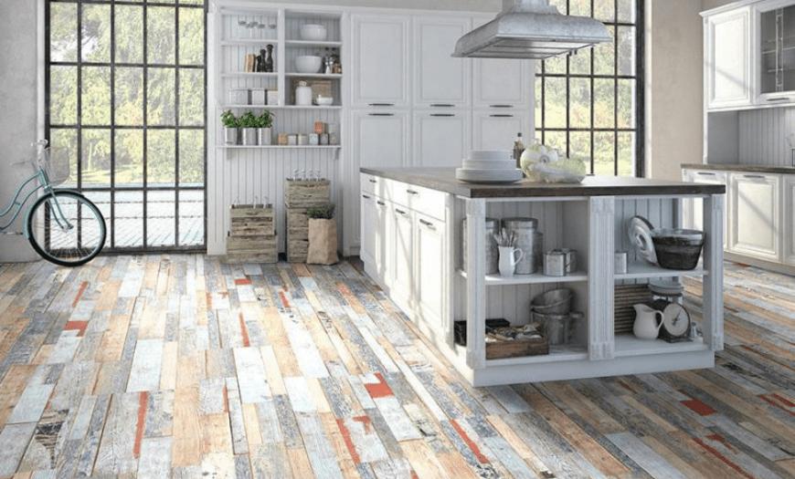 напольное покрытие для белой кухни