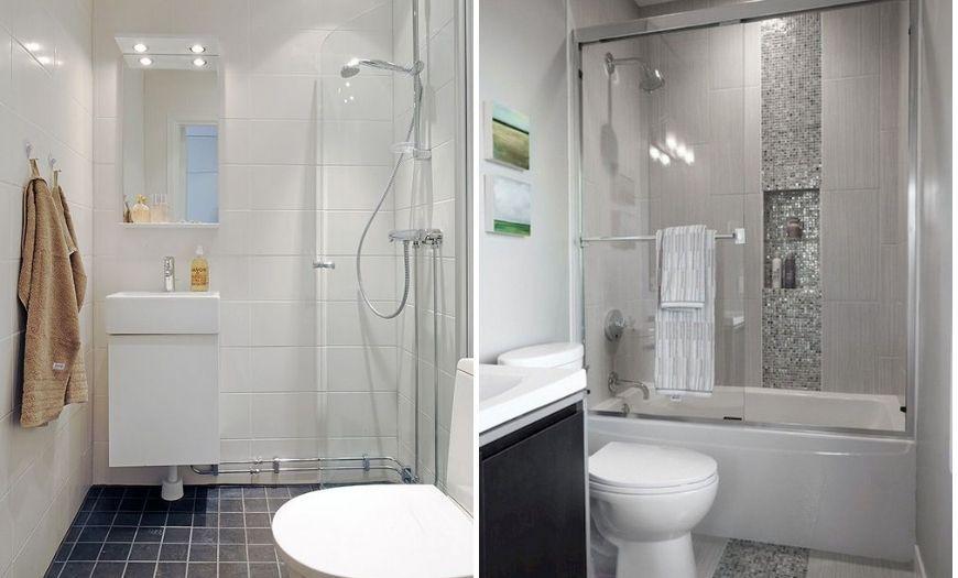 Ванная в квартире-студии в светлых тоннах