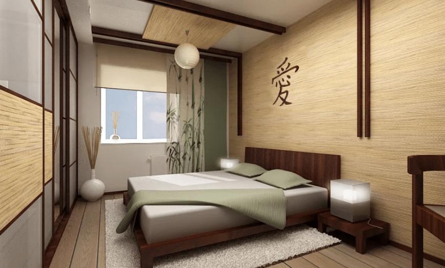 обои для спальни бамбуковые