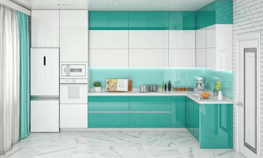 кухни мятного цвета