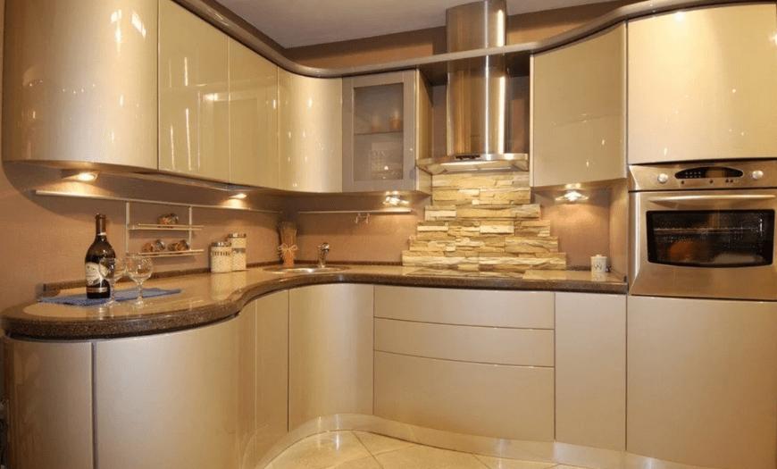 кухня бежевого цвета