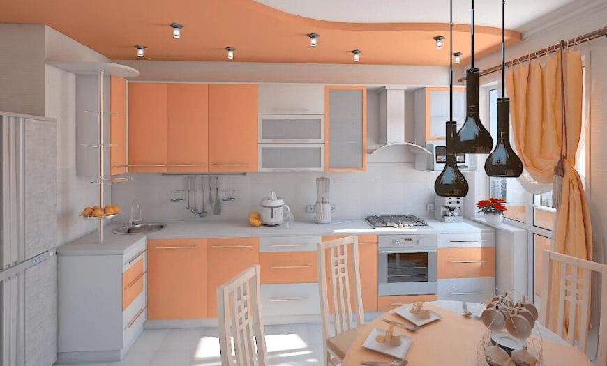 двухуровневая кухня фото