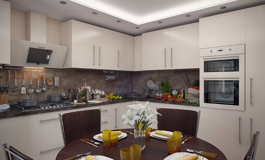 двухуровневая кухня