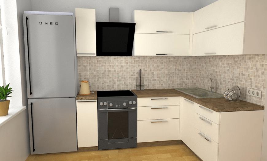 кухня с прямым углом