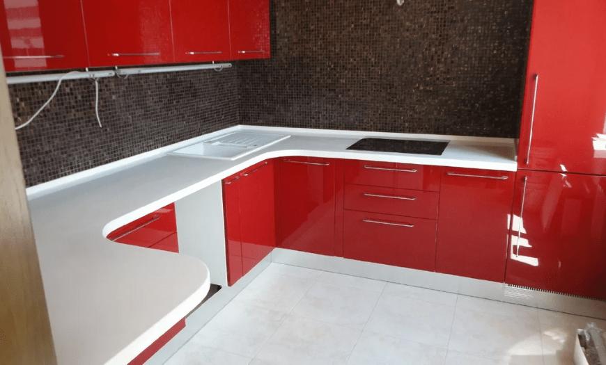 шкаф прямой угол кухни