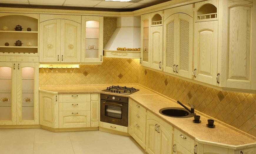 кухни варочная панель в углу