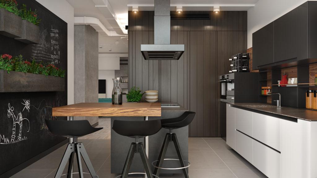 кухня в стиле хай тек