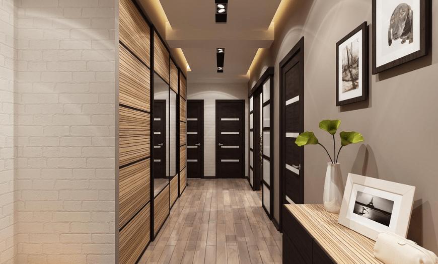 интерьер узкого коридора в квартире фото