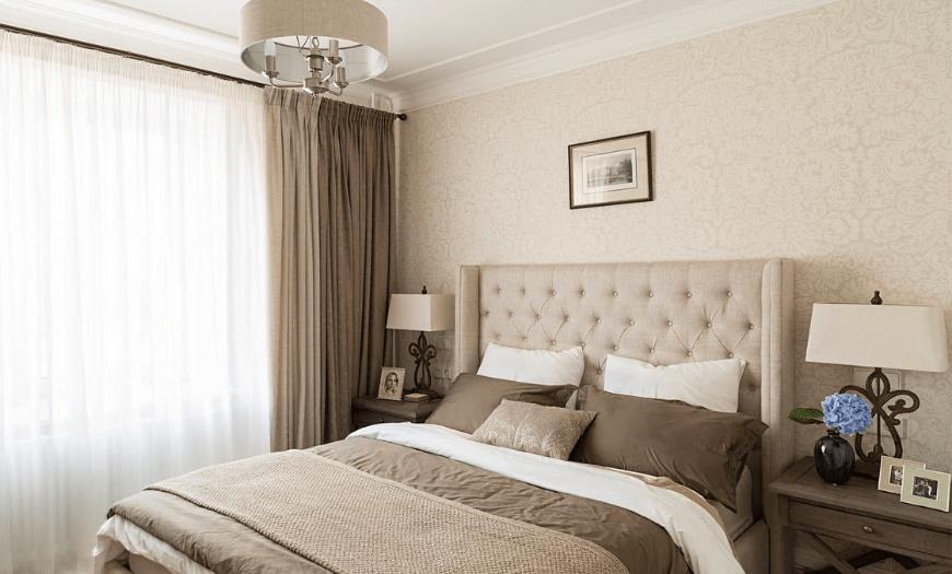 интерьер спальни 4 на 4