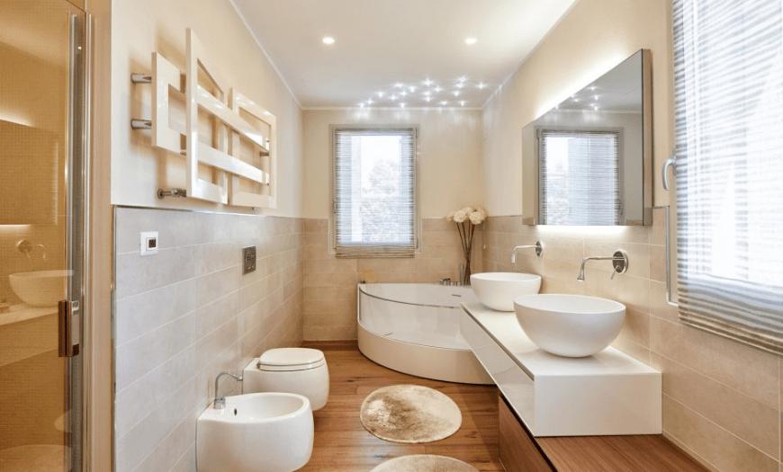 Дизайн ванной, совмещенной с туалетом (200 фото): интерьер комнаты и планировка