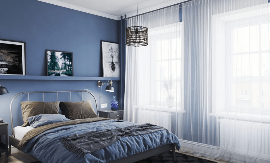 двуспальная кровать для маленькой спальни
