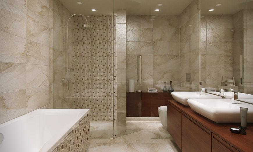 Напольное покрытие в ванной комнате и туалете