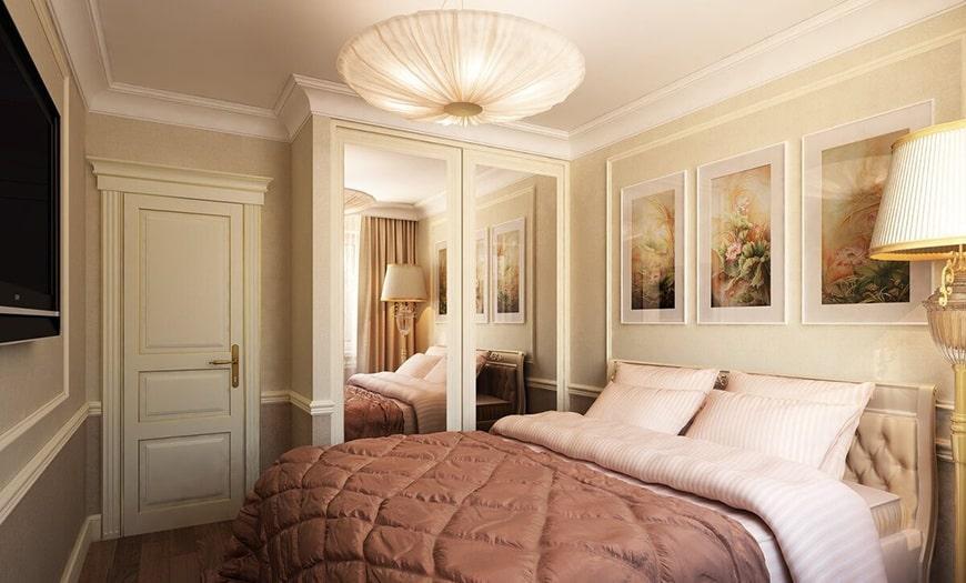 кровать в маленькую комнату