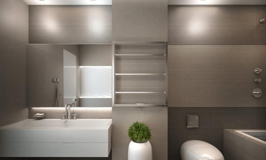 Ванная совмещенная с туалетом в стиле модерн
