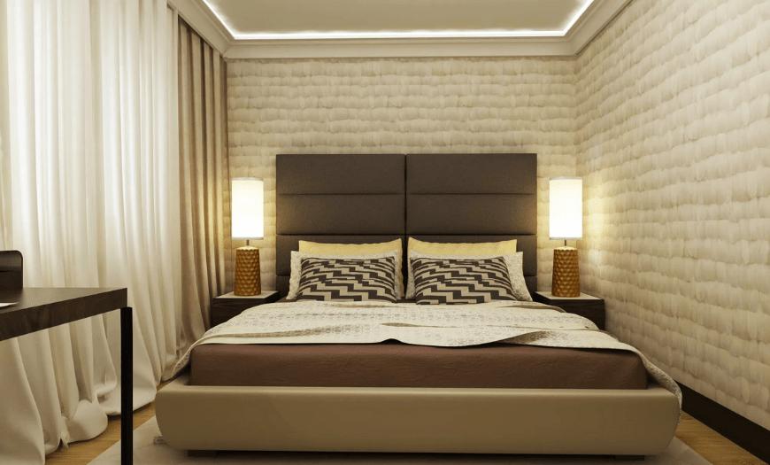 дизайн спальни 7 кв м фото