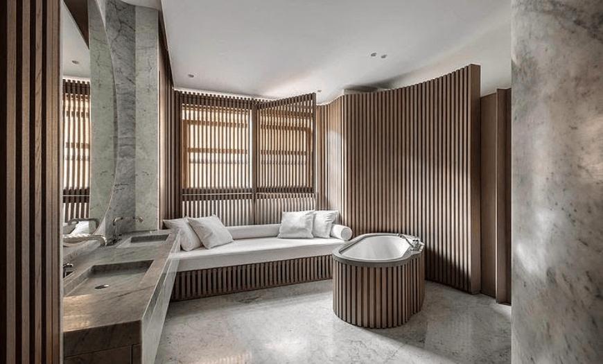 рейки в дизайне ванной