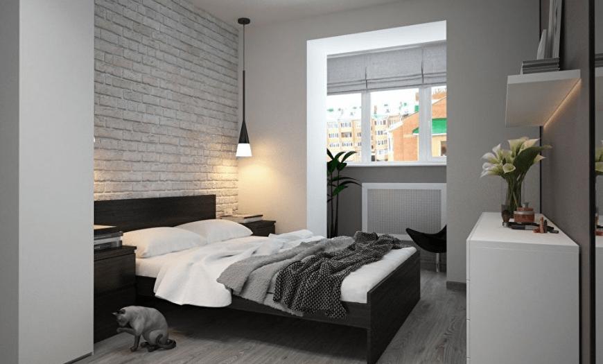 спальня без шкафа