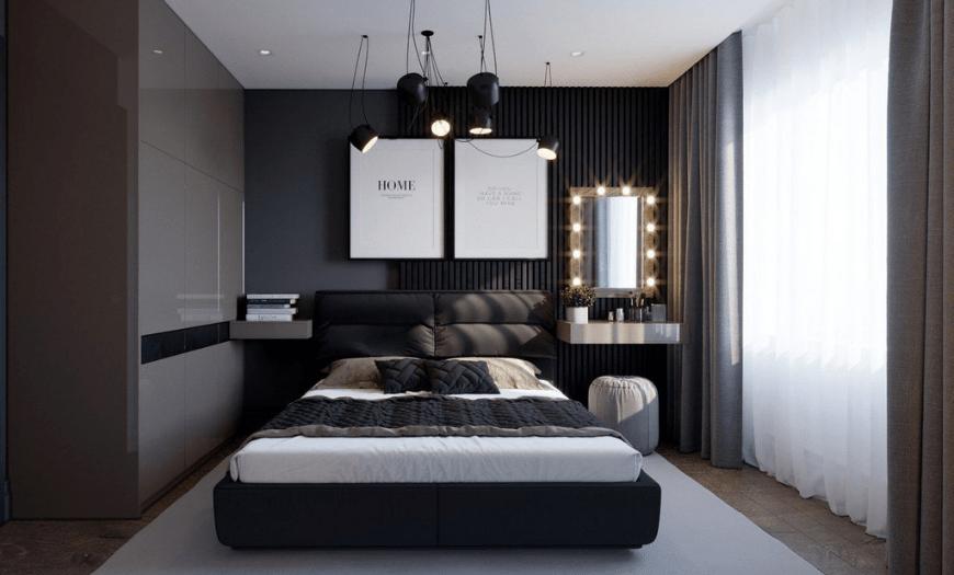 спальни уютные фото