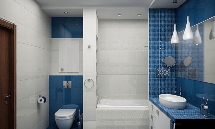 дизайн ванной комнаты маленького размера с туалетом