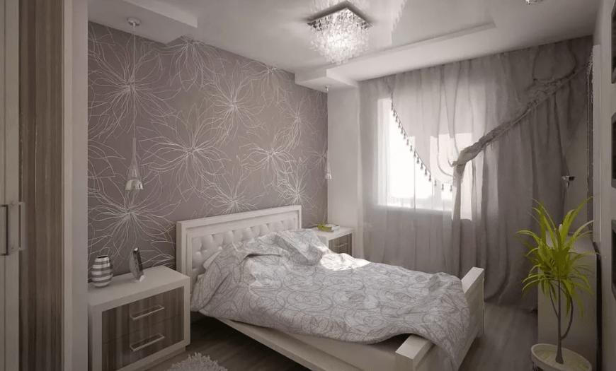 интерьер маленькая спальня