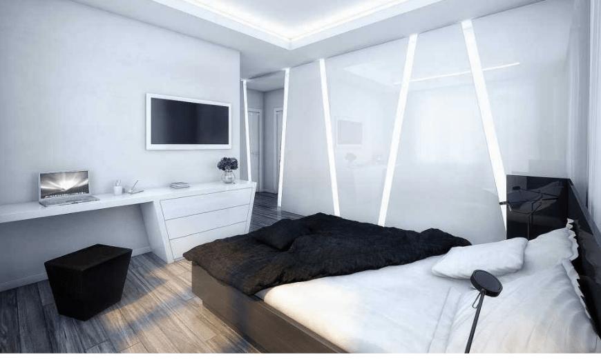 спальня прямоугольная