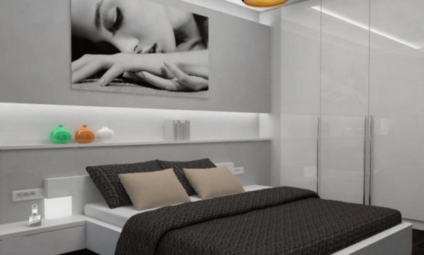 фото комнаты с кроватью