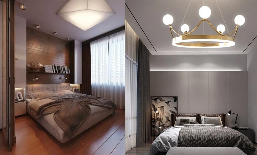 кровать в маленькой комнате