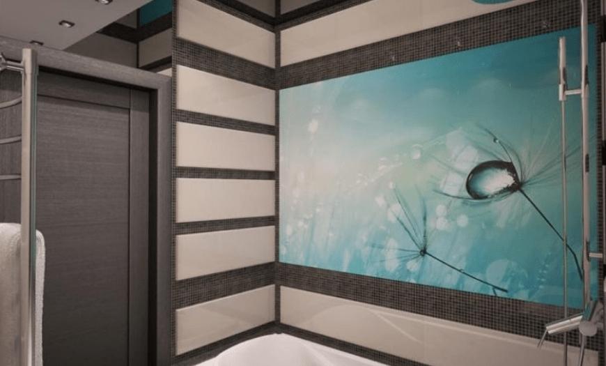 отделка стеклом ванной