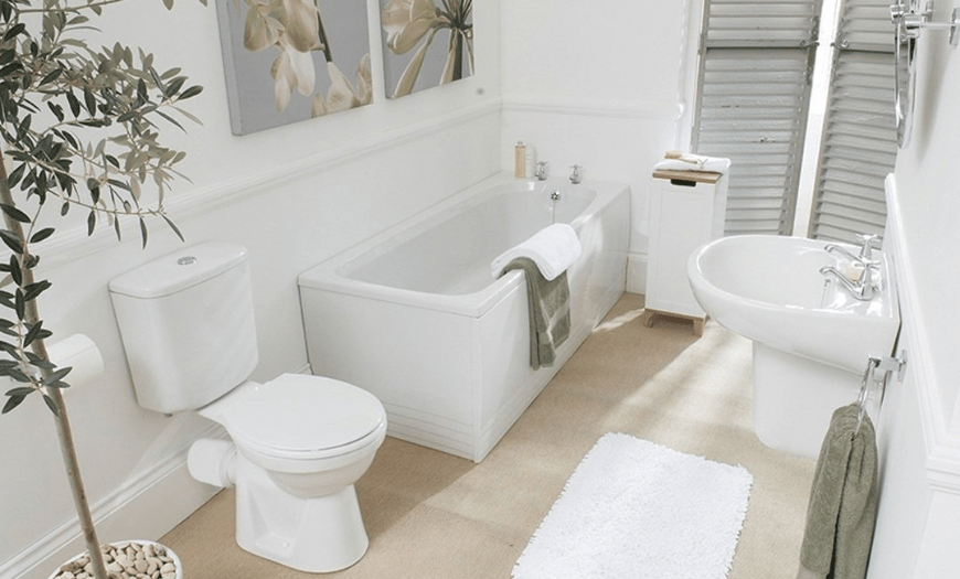 Дизайн белой ванной