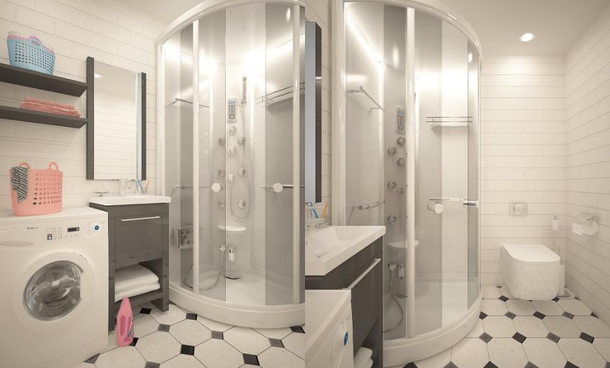 дизайн ванной комнаты в частном доме фото