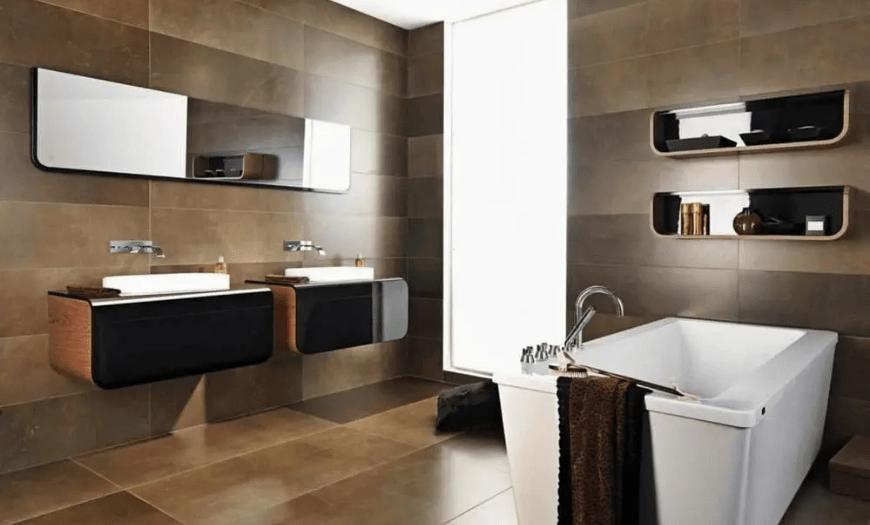 Стиль лофт в совмещенной ванной