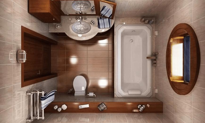 малогабаритные ванные комнаты совмещенные с туалетом