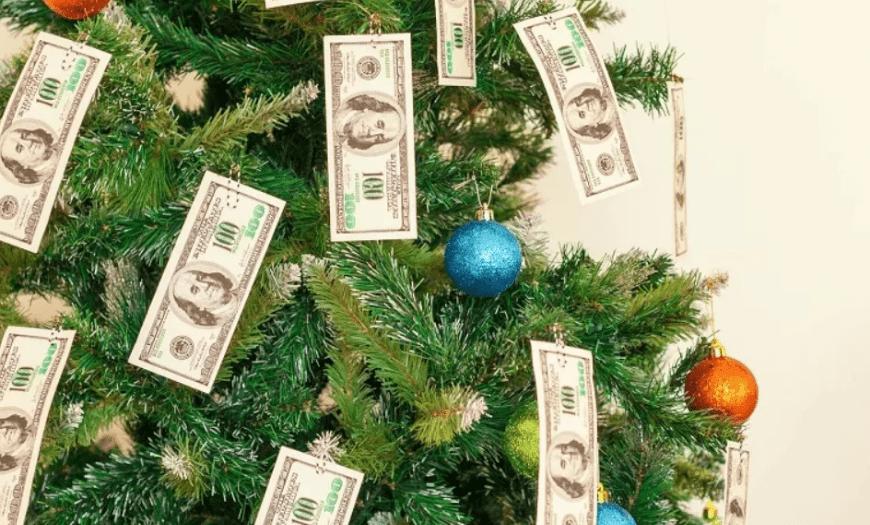 деньги на ёлочке