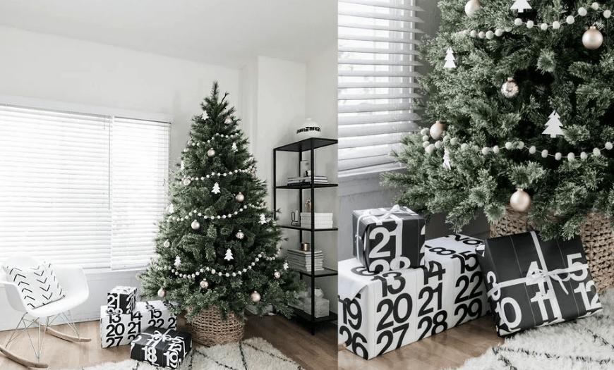 Стиль минимализм для новогоднего деревца
