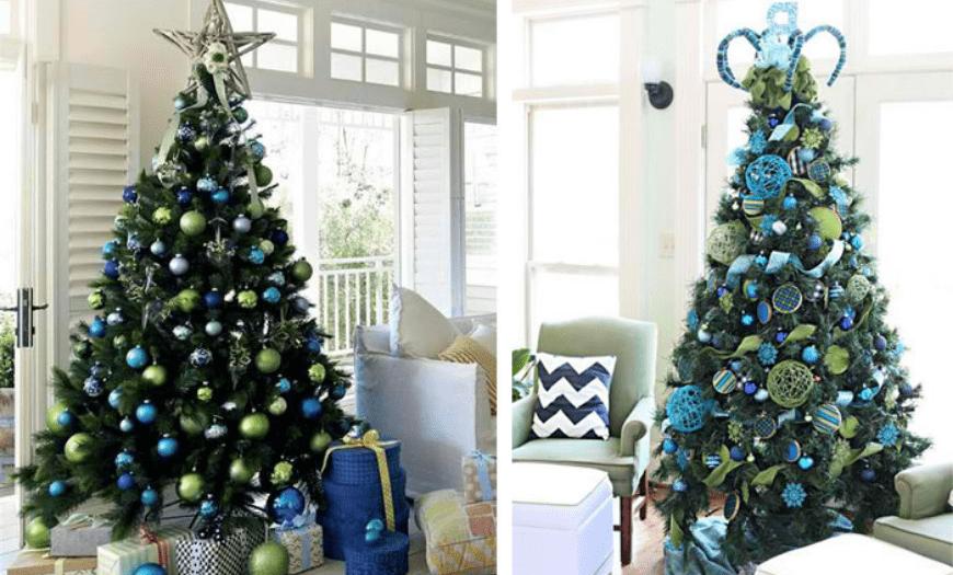 синие оттенки на елке