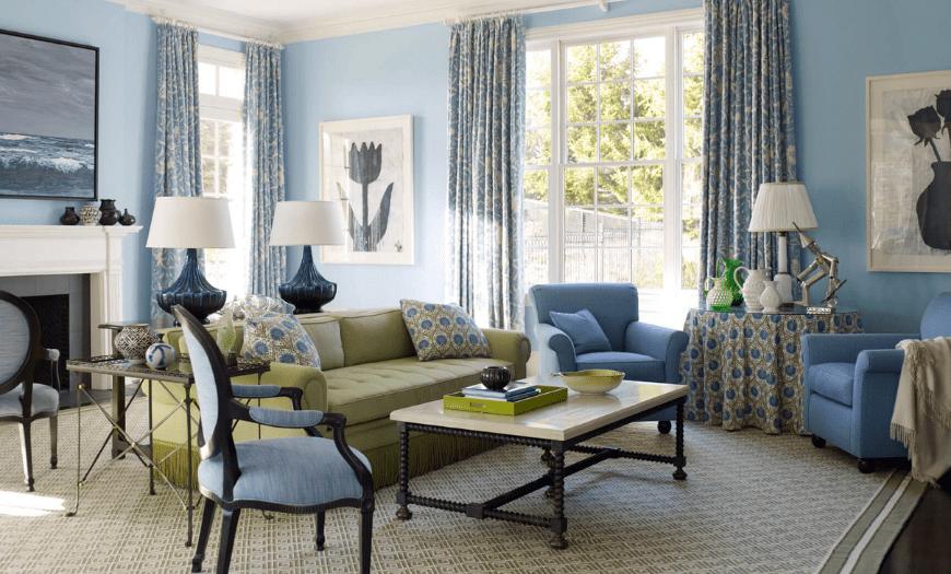 сочетания цветов в интерьере гостиной фото